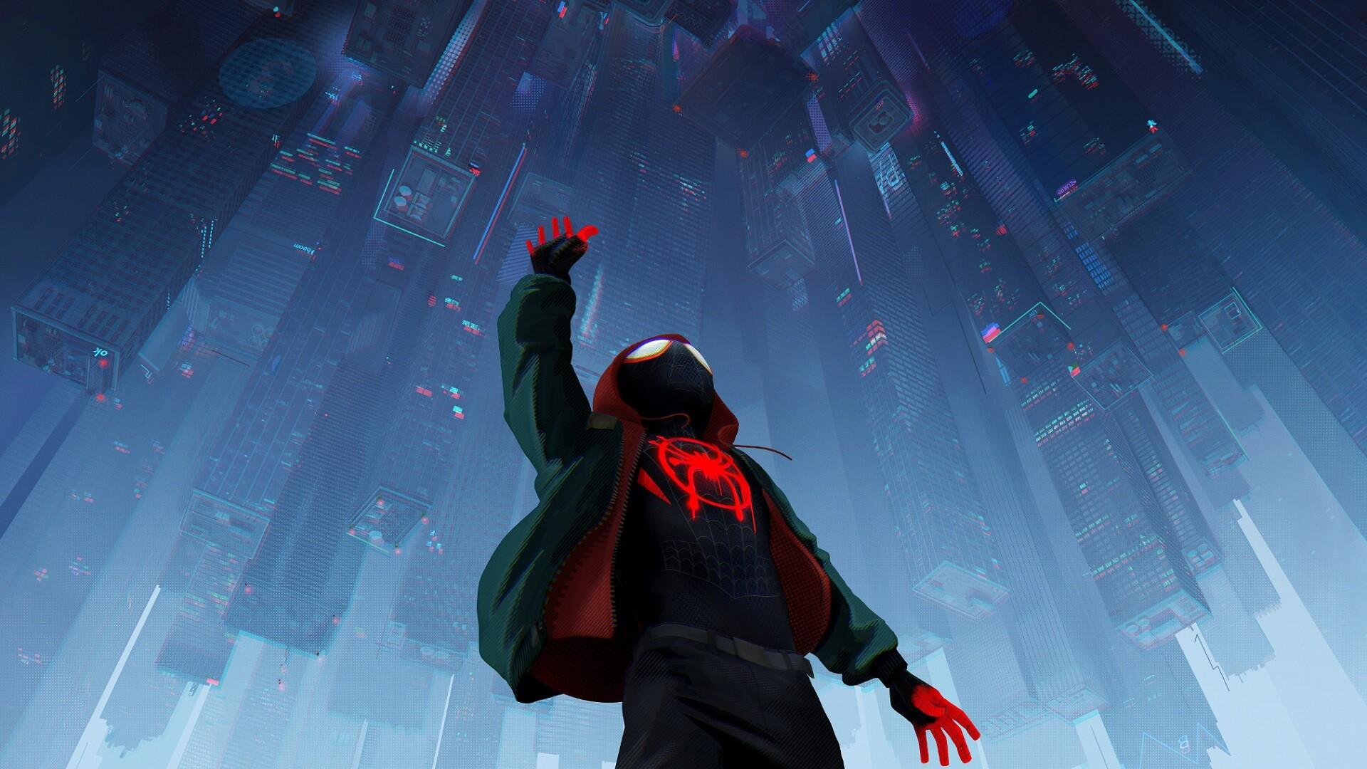 Обои для компьютера по мультфильму Человек-паук: Через ...