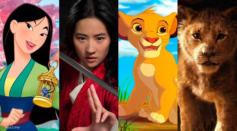 список фильмов в формате Live Action которые Disney снимет